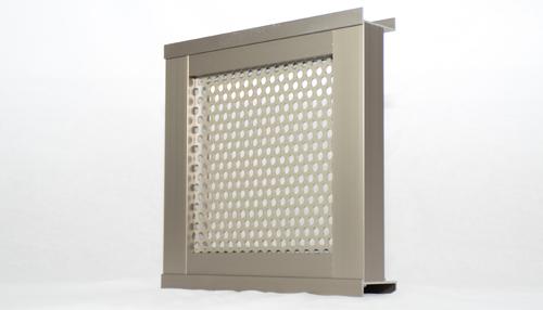 自由設計ガレージリベルテ バルコニーフェンス素材 パンチングメタル