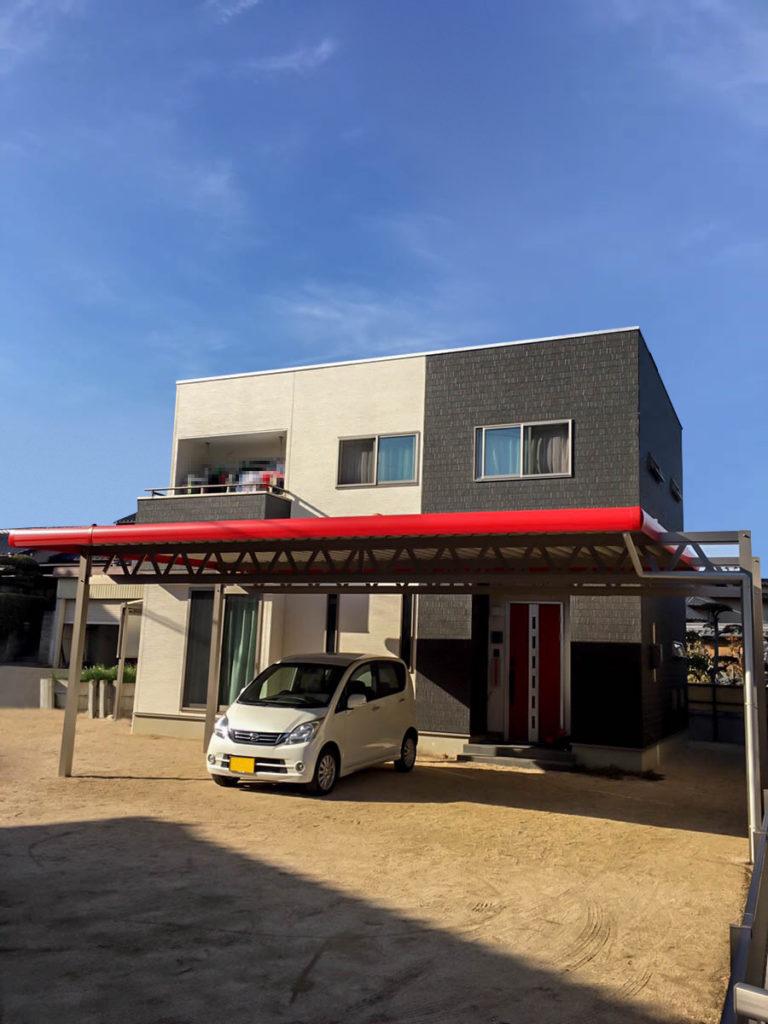 岡山県倉敷市リベルテ折半タイプ-M様赤破風-